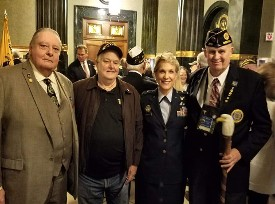 Ponytail Paul Cauley, Don Hawkins, Major General Erika Steuterman  and Kent Morgan