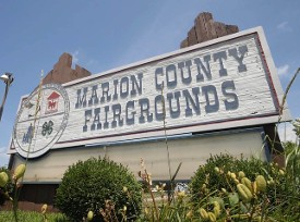 Marion County Fairgrounds Entrance Sign