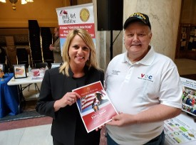 State Representative Karlee Macer and Don Hawkins at the Legislative Day event at the Capital
