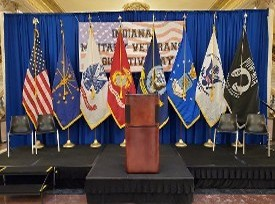 Flags at the Military Veterans Legislative Day Event