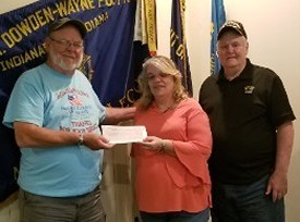 American Legion Post 64 $2,500 donation to Dave Sassman & Don Hawkins