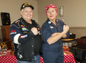 Don Hawkins with Rosie the Riveter